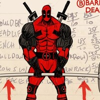 Deadlift for thickness with Deadpool Bro