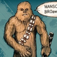 Chewbacca, some star wars manscaping
