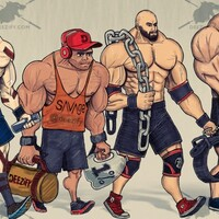 gym entourage, crossfitter, bodybuilder, powerlifter, strongman