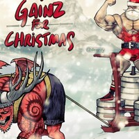 Merry Christmas cartoon, sled training with Savage Santa