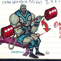Seated Barbell Bicep Lap Curls with Apocalypse