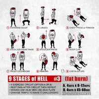 9 exercise fat burning circuit
