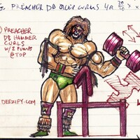 The Ultimate Warrior hammer bicep curls