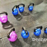 Kettle Bell Front Squat drop set of hell