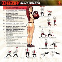 illustrated butt workout, bulgarian split squats, step ups