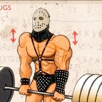 Barbell Shrugs with Lord Humungus
