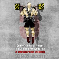 weighted chin ups, get a big back