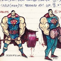 Gun Show, Superman doing bicep curls