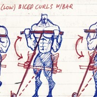 Bicep workout, 3 exercise curl super set