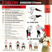 illustrated workout get shredded strong