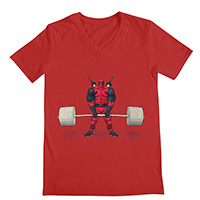 deadbro deadlift v neck shirt