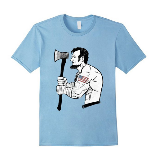 savage abe t shirt baby blue