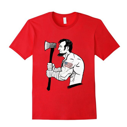 savage abe t shirt red