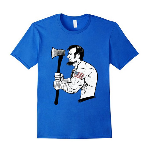 savage abe t shirt royal blue