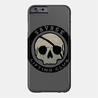 savage lifting club workout phone case