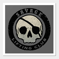 savage lifting club workout print